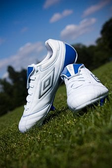 Football, Boots, Shoes, Sport, Field, Grass, Park, Team