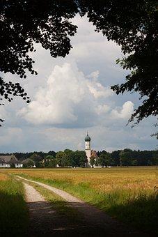 Church, St Ottilie, Möschenfeld, Hamlet, Community
