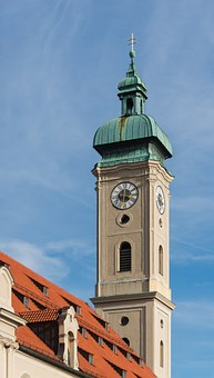 Holy Ghost Church, Munich, Bell Tower, Spire, Steeple