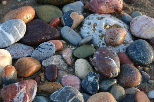 Stones, Round, Pebbles, Arrangement, Group, Mineral