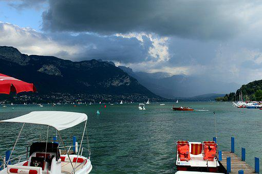 Storm, Thunderstorm, Clouds, Dark, France, Annecy
