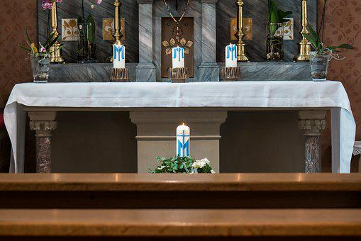 Altar, Tabernacle, Holy, Marble, Rosary, Church