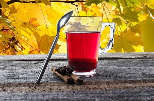 Tea, Cup, Teabag, Mug, Glass, Autumn, String, Natural
