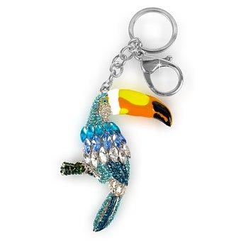 Bird, Key Ring, Keychain, Key Ring Pendant, Toucan