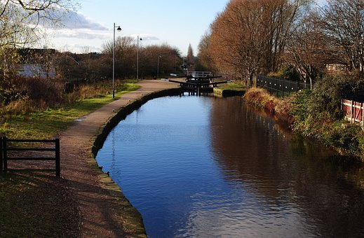 Canal, View, Water, Calm, Lock, Tourism, Path