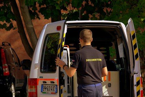 Rescuer, Ambulance, Nurse, Rescue, Van, Open, Urgency