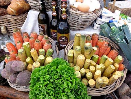 Vegetables, Basket, Egg, Bread, Cook, Ingredients, Eat