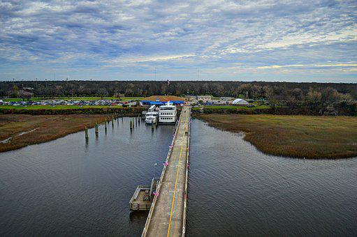 Dock, Water, Landscape, Ferry, Sky, Pier, Summer