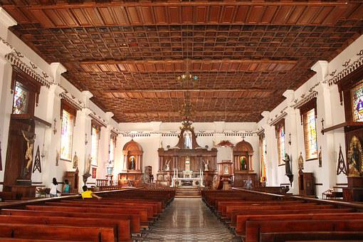 Church, Inside, Wood, Salamina, Coffee Region, Colombia