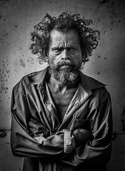 Adult, Man, Angry, Mal, Poor, Homeless, Poverty