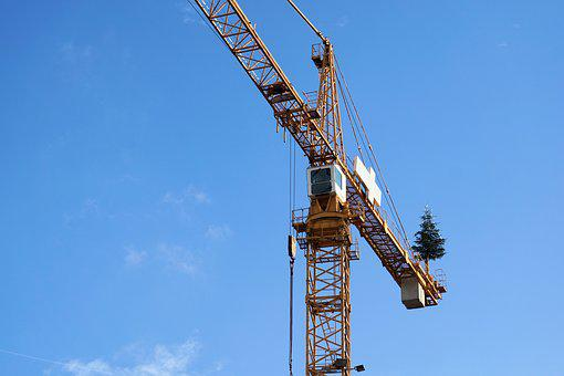 Crane, Site, Baukran, Construction Work, Technology