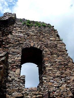 Castle Lichnice, Castle, Ruins, Window, Monument