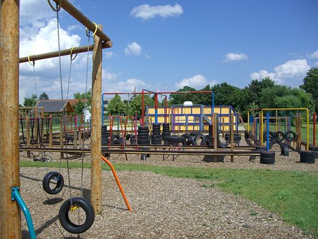 Children's Playground, Langenau, Fun Arena, Tires