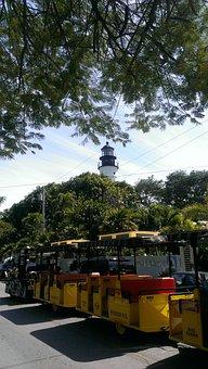 Key, West, Lighthouse, Conch, Train, Island, Ocean