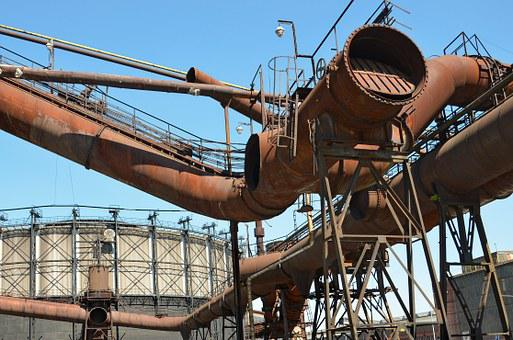 Industry, Gas Reservoir, Ostrava, Iron, Melting Iron