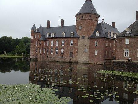 Moated Castle, Anholt, Germany, North Rhine Westphalia