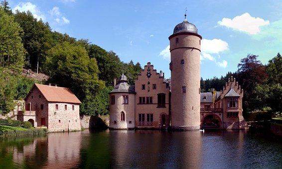 Wasserschloss Mespelbrunn, Castle, Monument, Building