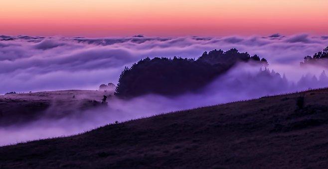 Cloud, Mist, Dawn, Landscape, Sky, Fog, Morning, Autumn