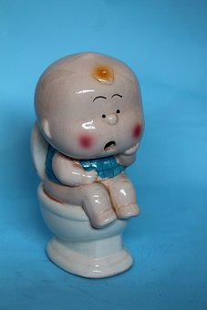 Child, Small, Ceramics, Porcelain, Cabinet, Red Cheeks