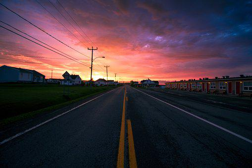 Tourist Path, Road, Sunset, In Rural Areas, Way