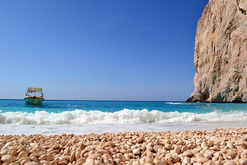 Zakynthos, Greece, Holidays, Water, Sea, Ship, Boat