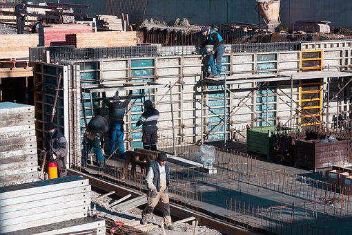 Site, Construction Workers, Reinforcement, Concrete