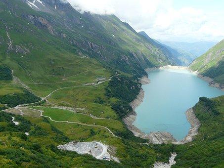 Lake, Alps, Water, Nature, Stausee, Wasserfallboden