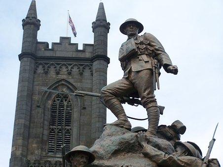 War Memorial, Statue, Soldier, Bronze, Sculpture