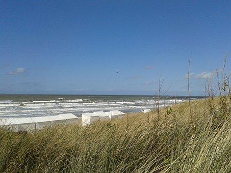 Dunes, Dune, Sea, Water, Sky, North Sea, Coast