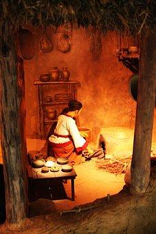 Kitchen, Woman, Doll, Model, Baekje Woman