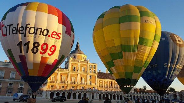 Hot Air Balloon, Balloons, Aranjuez, Madrid