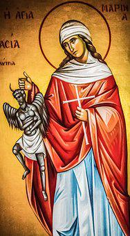 Ayia Marina, Saint, Iconography, Religion, Orthodox
