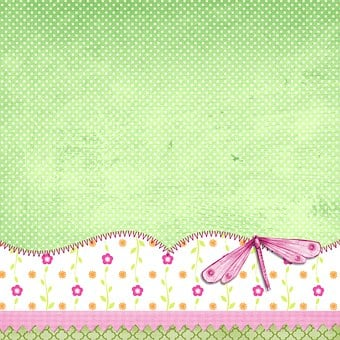 Background, Page, Scrapbook, Green, Kids, Baby, Small