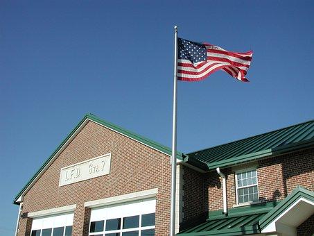 American Flag, Usa, Blue, Patriotic, Waving, Flag