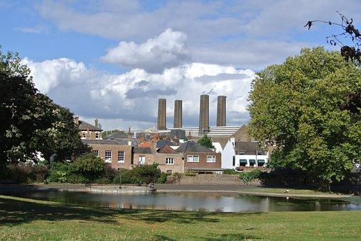 London, Park, Coal, Pond, City, Greenwich