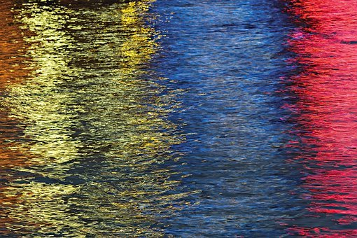 Seattle, Waterfront, Abstract, Colorful, Elliott Bay