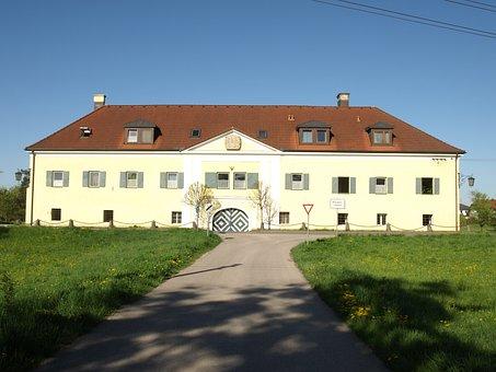 Blindenmarkt, Auhof, Castle, Building, Front, Facade