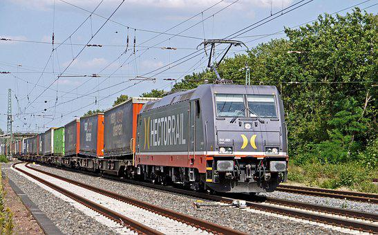 Container Train, Electric Locomotive, Hectorrail