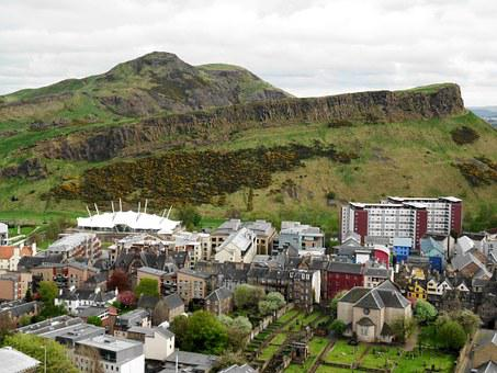 Arthurs Seat, Edinburgh, Holyrood, Scottish Parliament