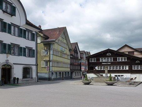 Appenzell, Switzerland, Innerrhoden, Home, Architecture