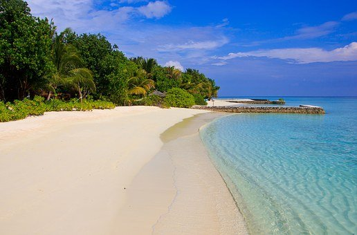 Maldives, Lagoon, Blue, Paradise, Exotic, Beach, Island