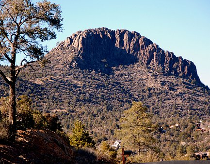 Thumb Butte, Arizona, Prescott, Mountain, Hiking, Rock