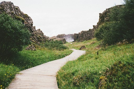 Iceland, Tectonic Plates, Nature, Landscape, Rock