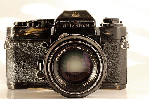 Analog, Camera, Nikon, Old, Hipster, Vintage, Nikkor