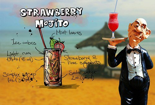 Strawberry Mojito, Cocktail, Drink, Operation, Upper