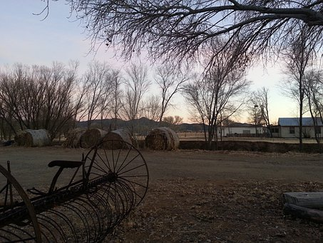 Prescott, Arizona, Ranch, Farm, Equipment, Trees, Bales