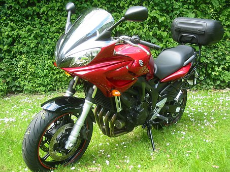 Motorcycle, Facer, Red Motorcycle