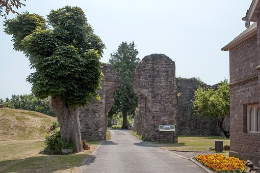 Abergavenny, Castle, Entrance, Landmark, Culture, Ruins