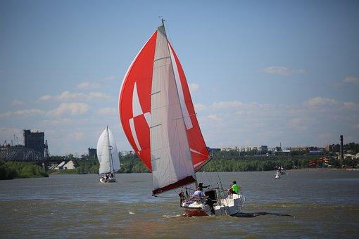 Irtysh, River, Yacht, Russia, Summer, Yachts, Water