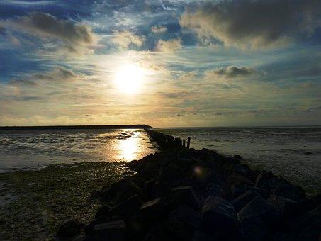 Dyke, Sea, Water, Nature, Air, Zeedijk, Coast, Dam